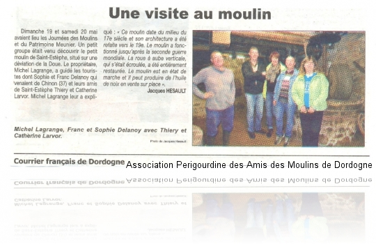 Article courrier Français du 31 mai 2013 n°1