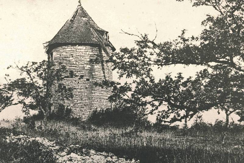 Vieille-photo-du-moulin-à-vent-de-Cignac
