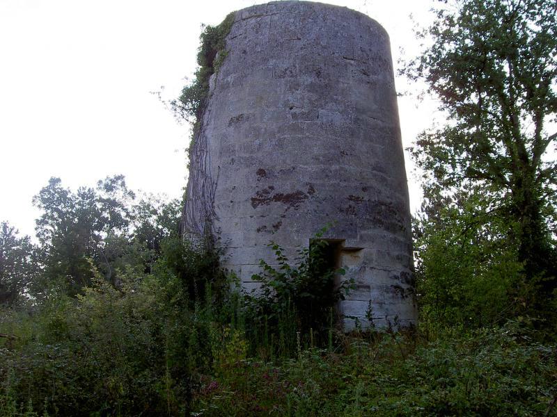 Le Moulin de la Tour Blanche avant sa restauration.