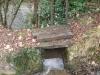 Vanne permettant de gérer l'arrivée d'eau au moulin