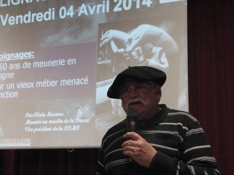 Le meunier du Moulin de la Pauze, Alain Mazeau