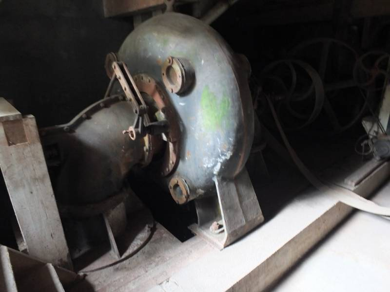 Turbine qui permettait de faire tourner le moulin de Faye