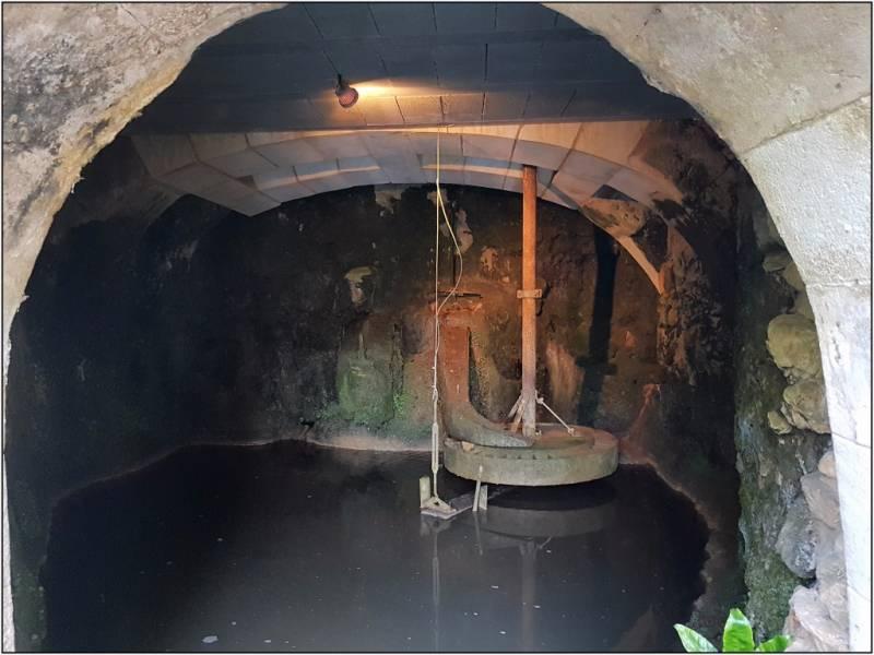 CAMPSEGRET - Roue à augets horizontale du Moulin de Lafargue