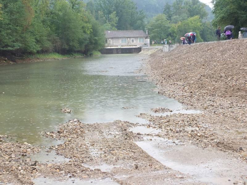 Travaux du barrage